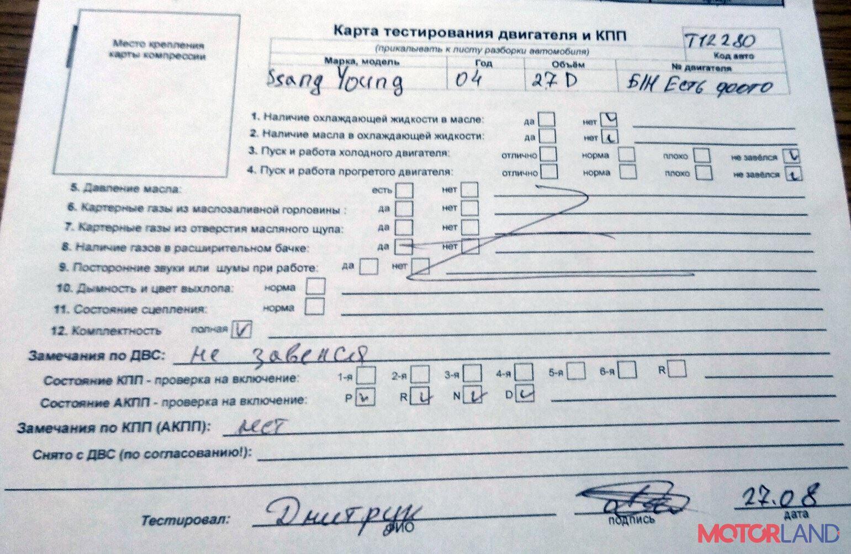 Ssang Yong Rexton 2001-2007 2.7 литра Дизель CRDi, разборочный номер T12280 #1