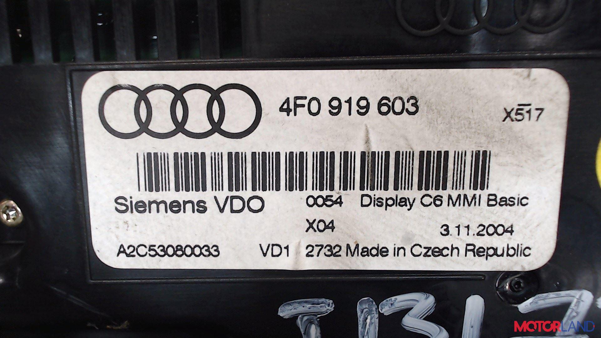Дисплей компьютера (информационный) Audi A6 (C6) 2005-2011 2.4 л. 2004 BDW б/у #3