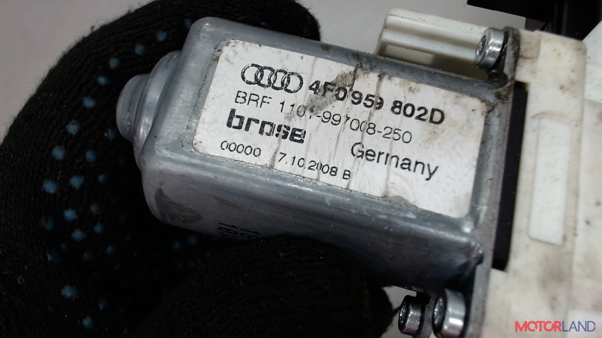 Двигатель стеклоподъемника Audi A6 (C6) 2005-2011 3 л. 2009 CCAA б/у #3