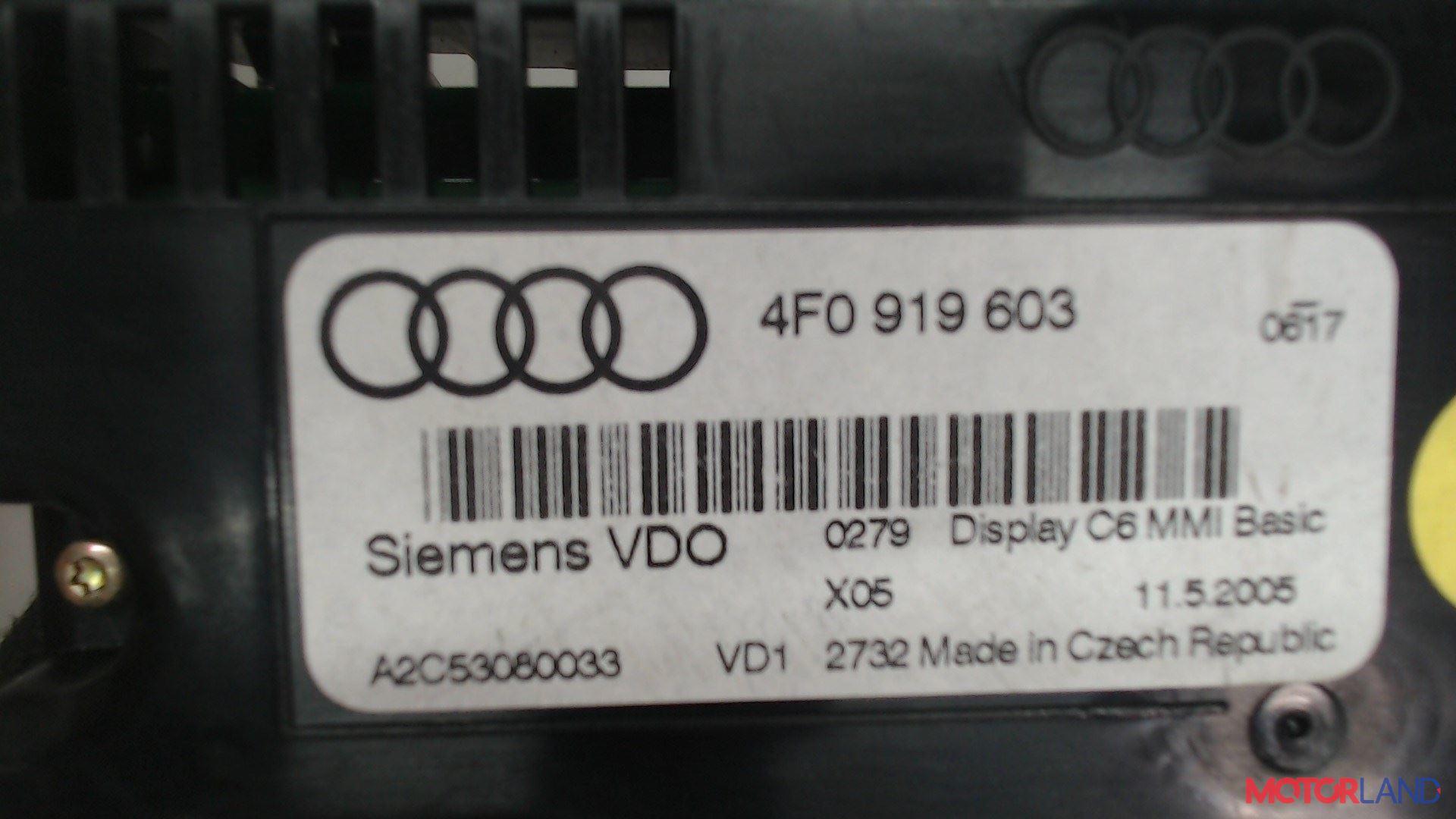 Дисплей компьютера (информационный) Audi A6 (C6) 2005-2011 2.7 л. 2005 BPP б/у #2