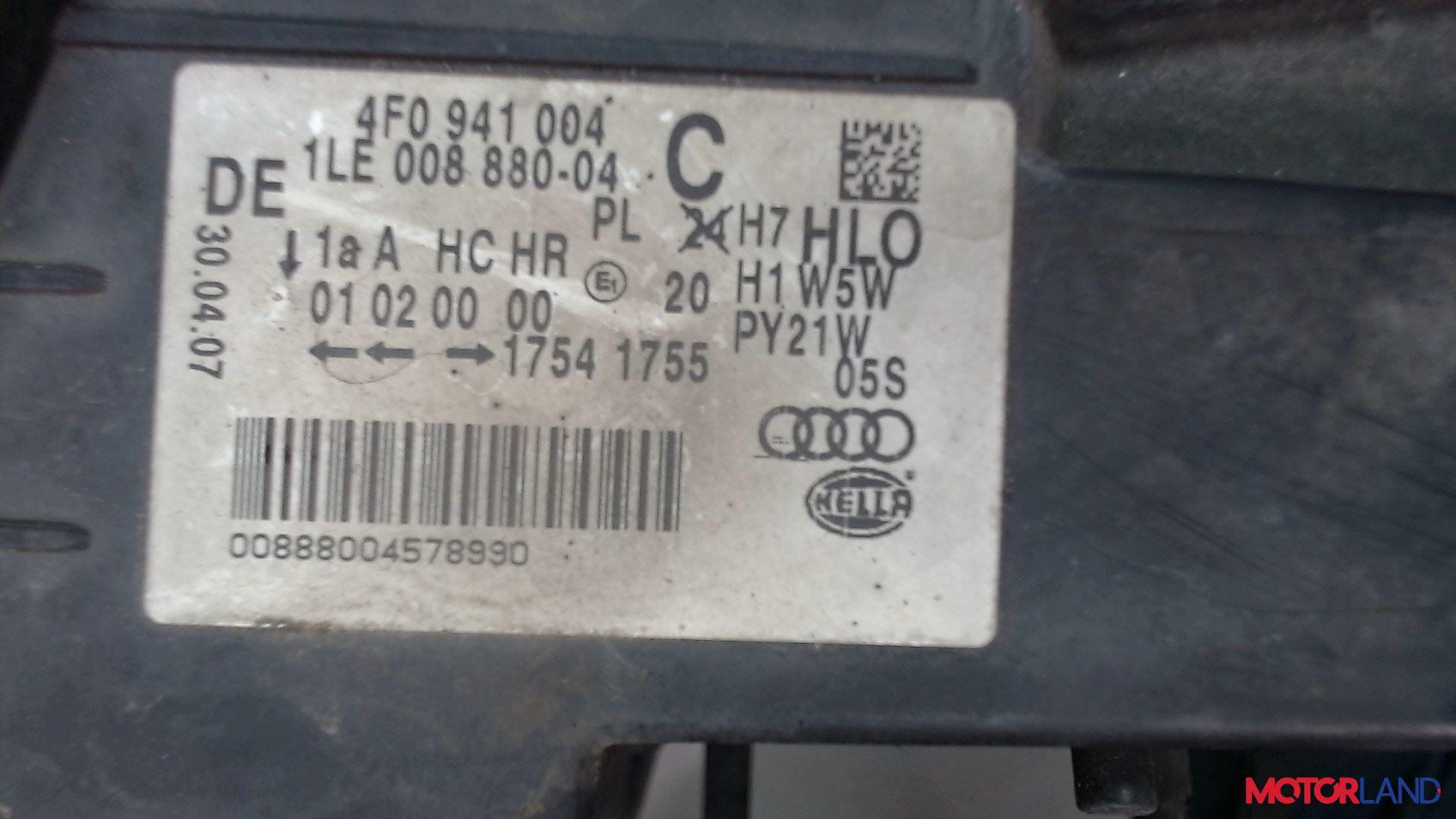 Фара (передняя) Audi A6 (C6) 2005-2011 2 л. 2007 BRE б/у #4