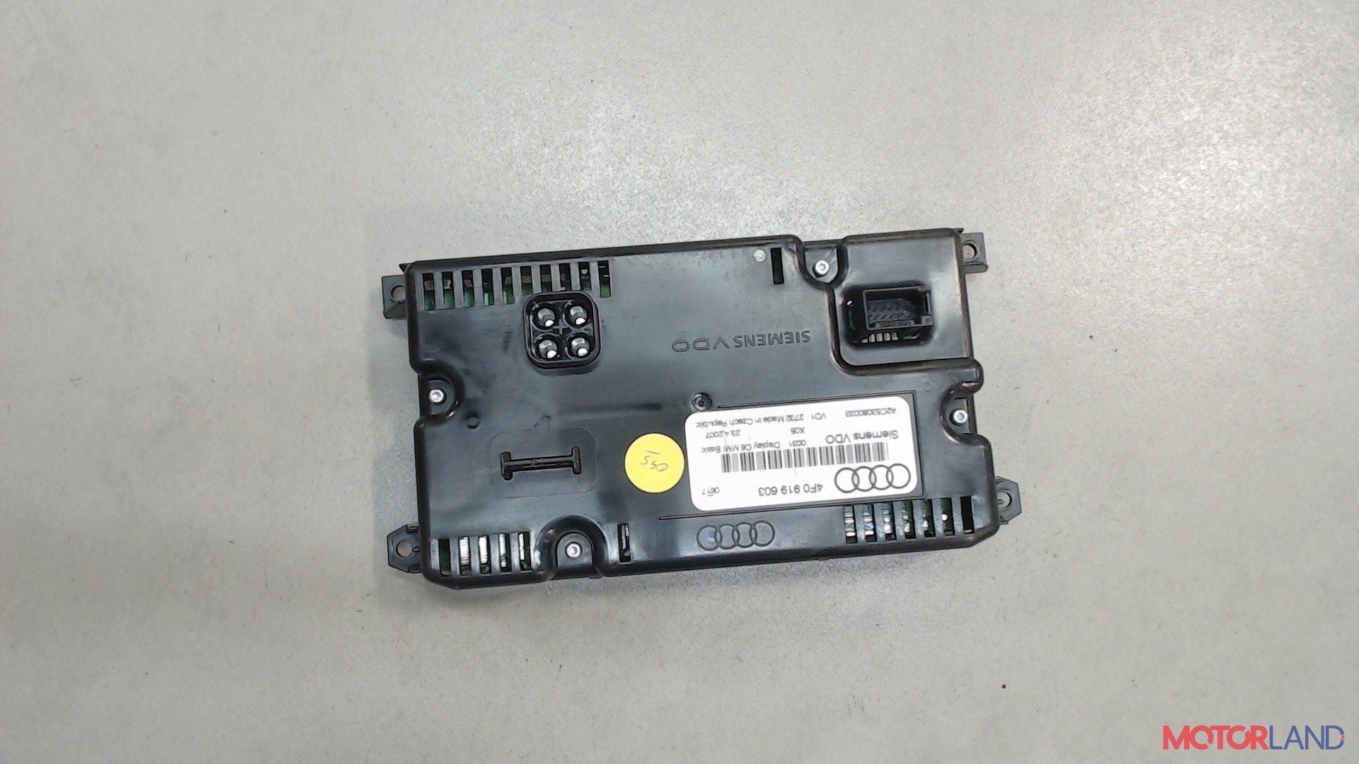 Дисплей компьютера (информационный) Audi A6 (C6) 2005-2011  л. 2005  б/у #2