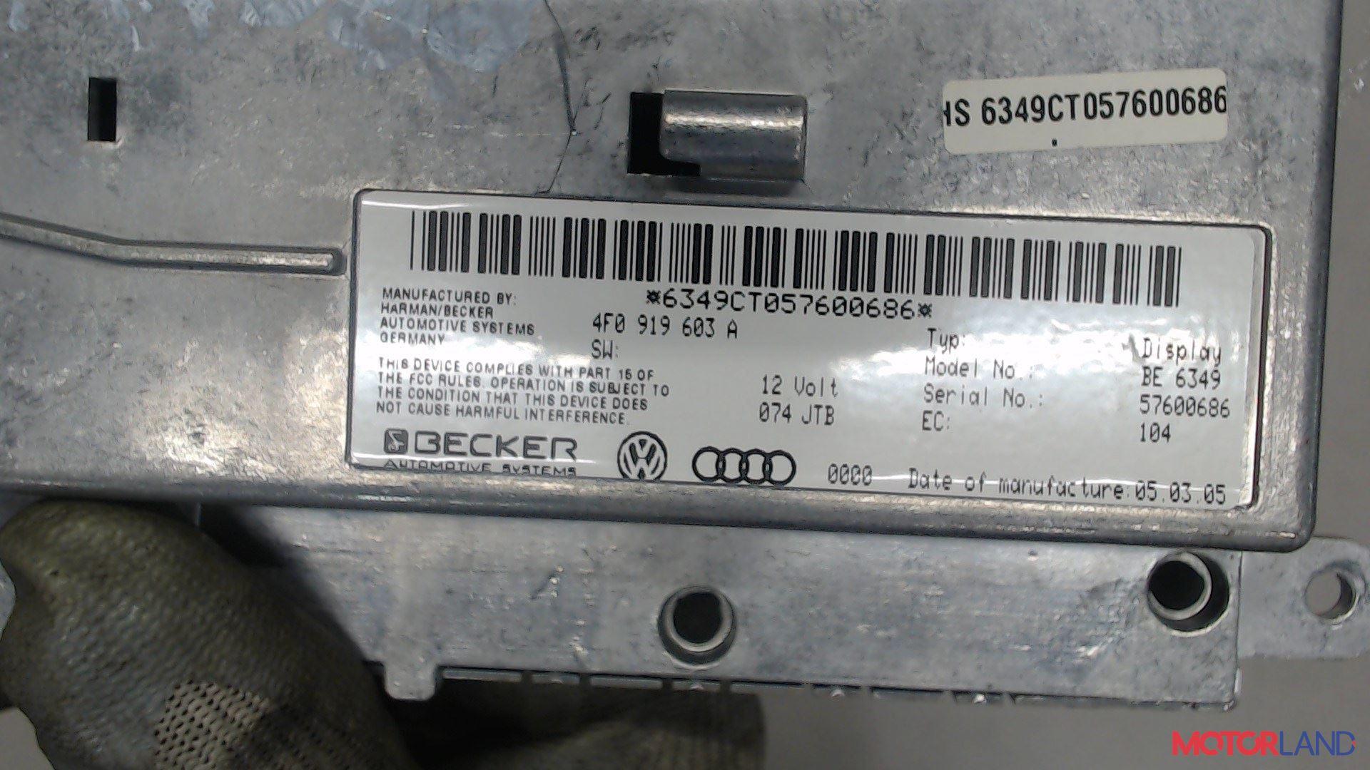 Дисплей компьютера (информационный) Audi A6 (C6) 2005-2011 3.2 л. 2005 AUK б/у #3