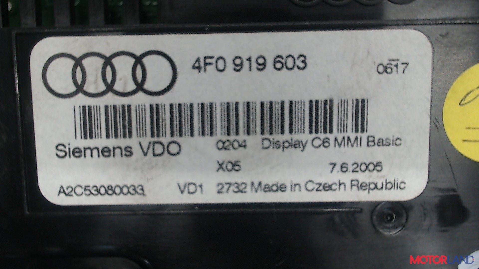Дисплей компьютера (информационный) Audi A6 (C6) 2005-2011 3 л. 2005 BMK б/у #4