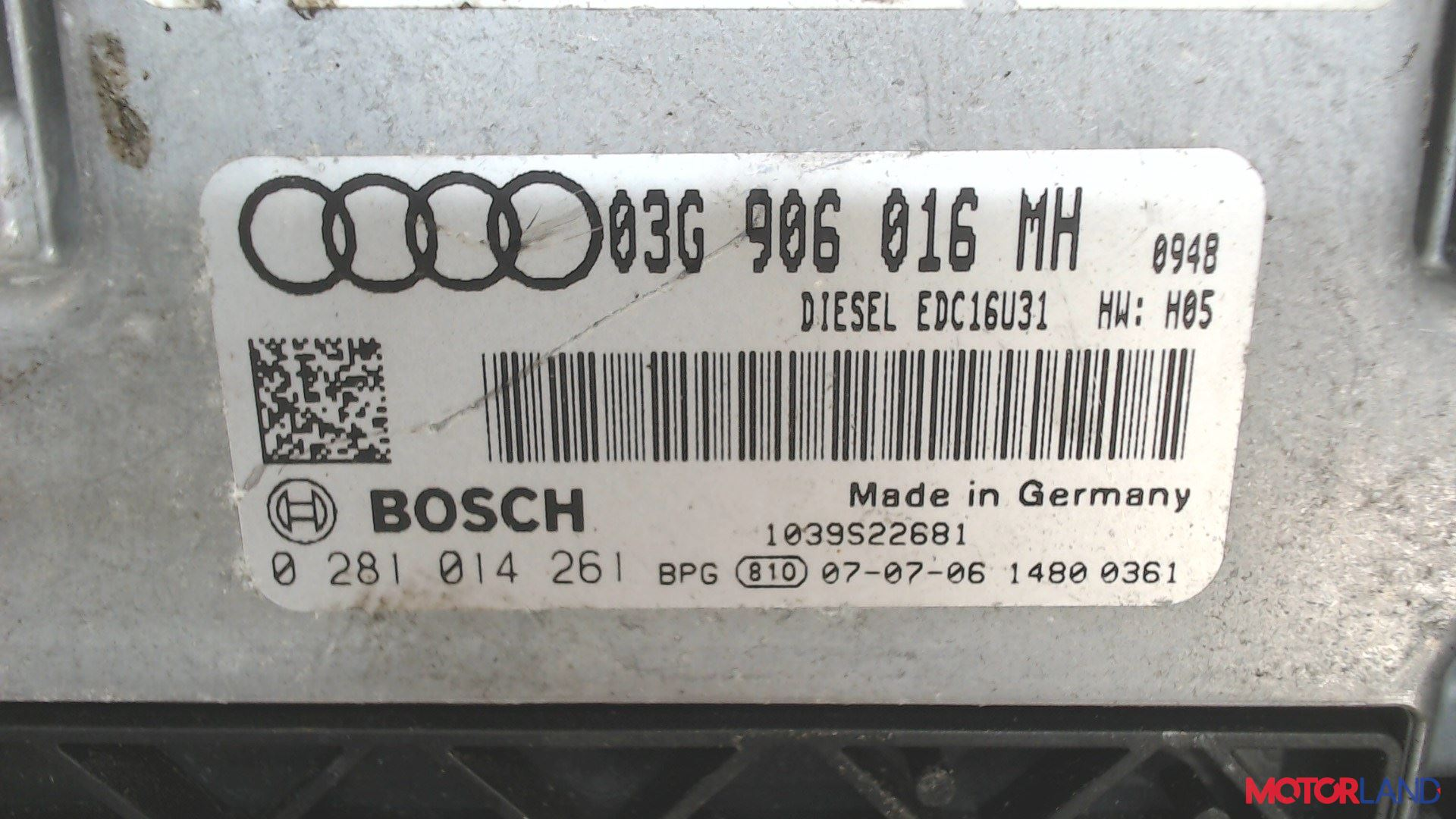 Блок управления (ЭБУ) Audi A6 (C6) 2005-2011 2 л. 2007 BRE б/у #3
