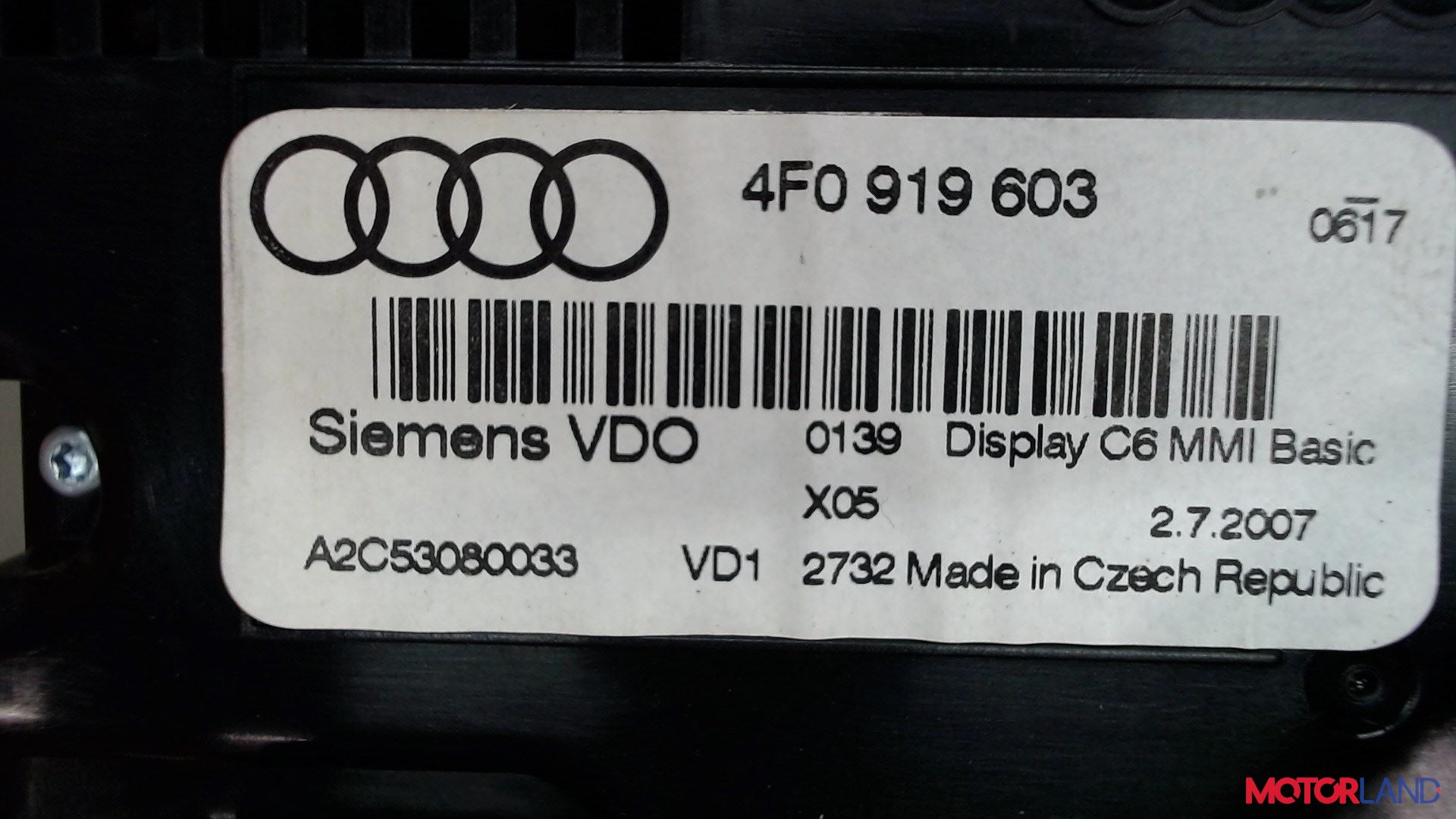 Дисплей компьютера (информационный) Audi A6 (C6) 2005-2011 2 л. 2007 BRE б/у #3