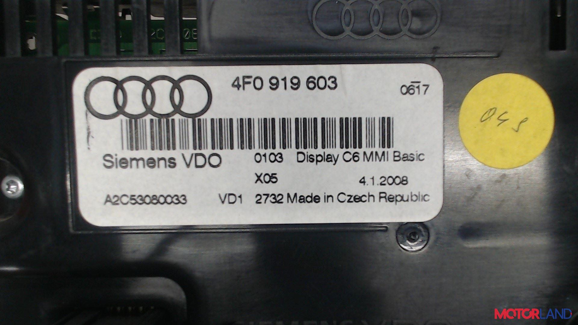 Дисплей компьютера (информационный) Audi A6 (C6) 2005-2011 2 л. 2008 BLB б/у #3