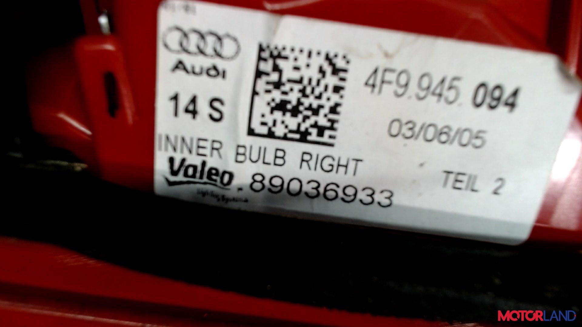 Фонарь крышки багажника Audi A6 (C6) 2005-2011 3 л. 2005 BMK б/у #3